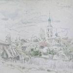 Касимов.Вид-на-Никольскую-церковь.карт.акв.2003г.272х341